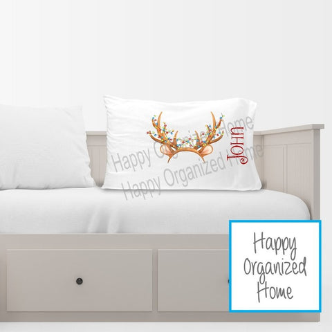 Reindeer Hat Photo Prop  Pillow case