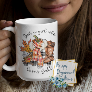 Just a Girl who loves fall  - Fall mug Coffee Tea Mug