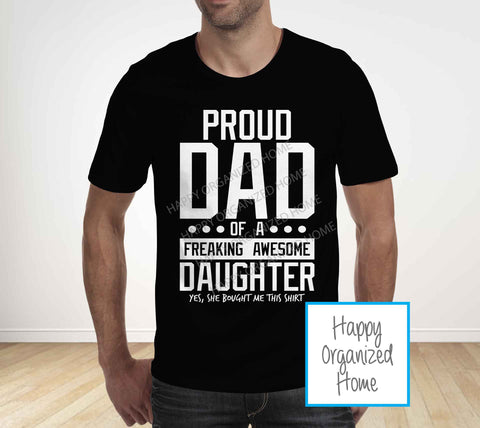 Proud Dad -  Father's Day T-shirt