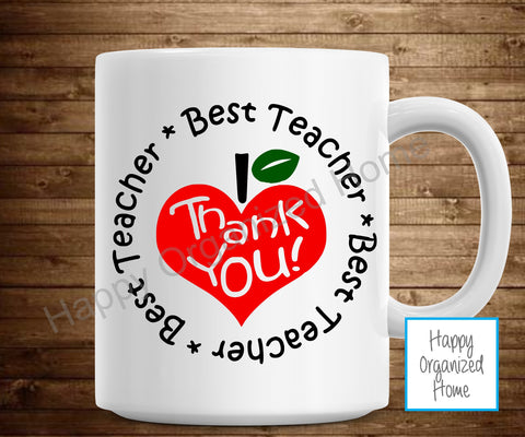 Best Teacher, Thank you mug