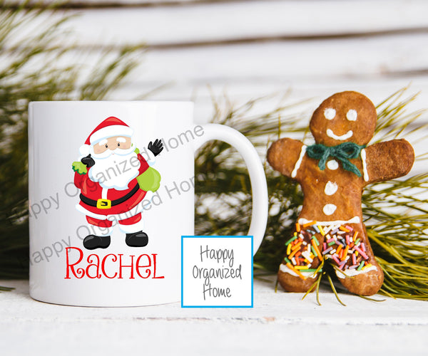 Christmas  Santa Personalized Kids Unbreakable mug