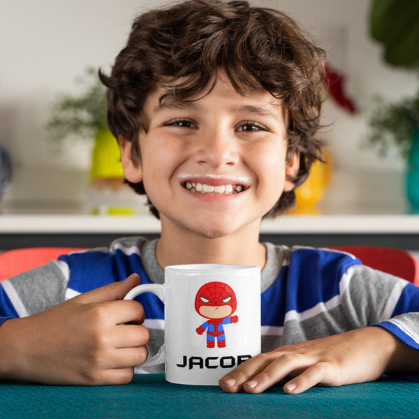Superheroes Personalized Kids Unbreakable mug