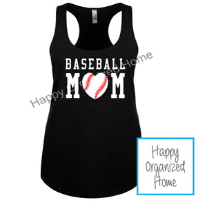 Baseball Mom Tank or Tshirt