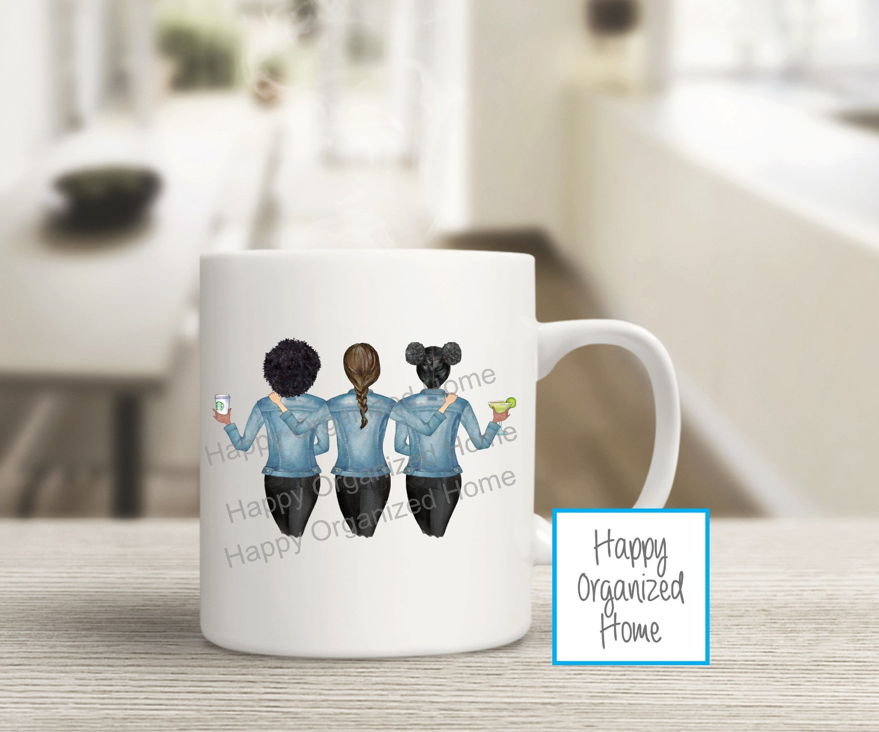 Best Friends Set of 3 - Personalized Mugs and Tumblers