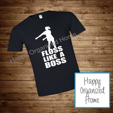 Floss like a boss Tshirt with ponytail- Toddler and Youth