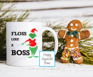 Flossing Grinch Kids Unbreakable mug