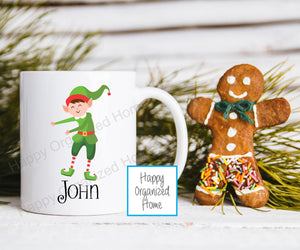 Flossing Elf Kids Unbreakable mug