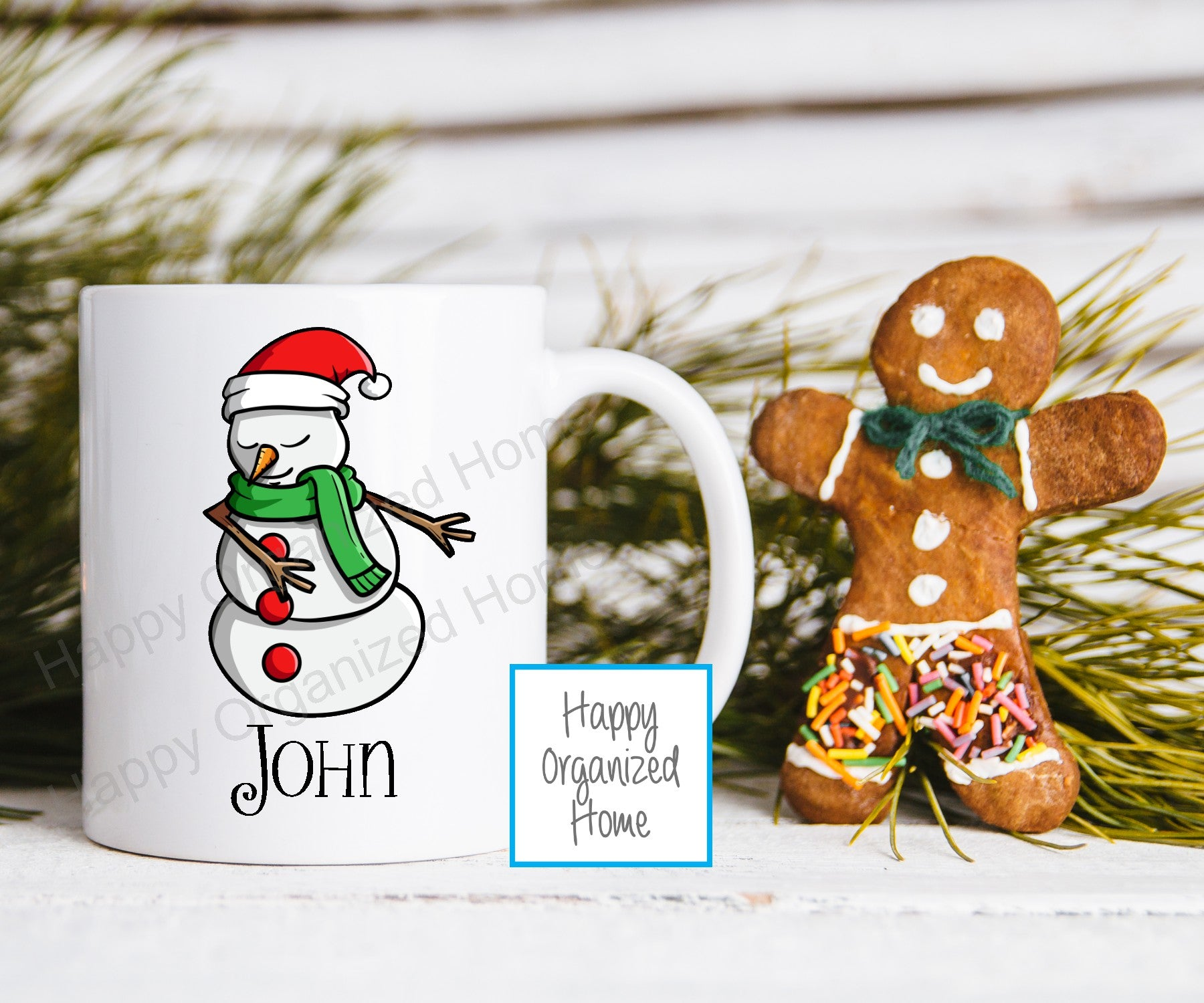 Flossing Snowman Kids Unbreakable mug