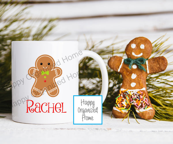 Gingerbread Personalized Kids Unbreakable mug