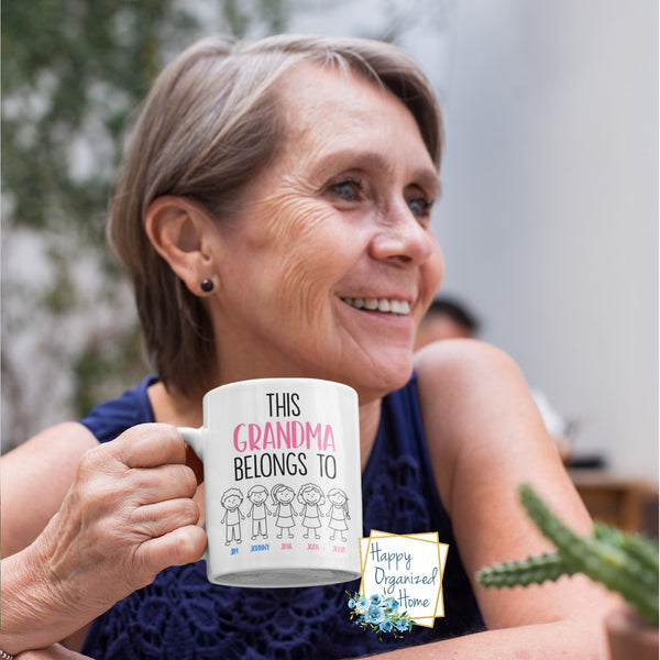 This Grandparent Belongs to Personalized Mugs - 2 Grand kids
