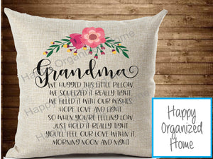 Grandma Hugged Pillow