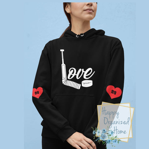 Love Hockey Goalie - Unisex Personalized Hoodie