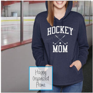 Hockey Mom Personalized On back of Hoodie - Comfy Supersoft Hoodie