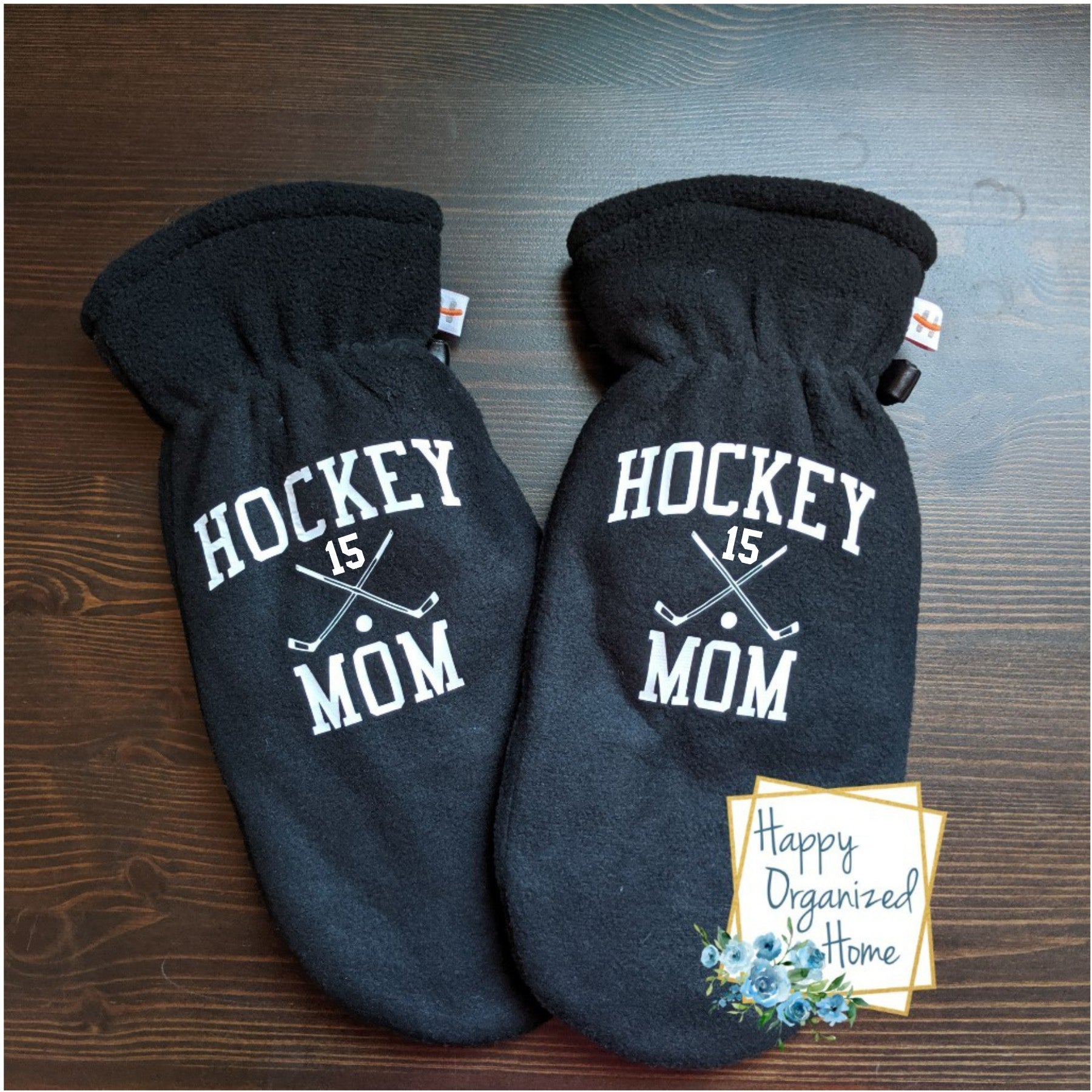 Hockey Mom Personalized with Player Number - Mittens