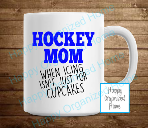Hockey Mom, when icing is not just for cupcakes