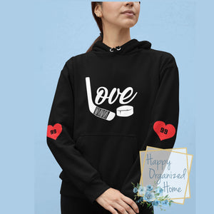 Love Hockey - Unisex Personalized Hoodie