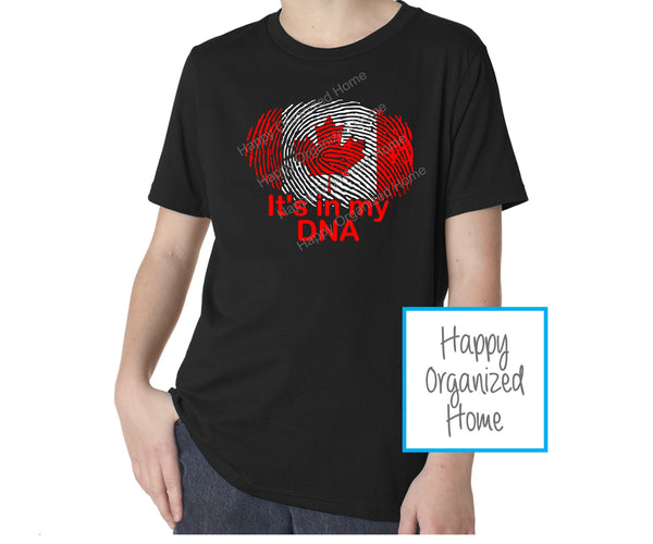 It's in my DNA - Canada Day Tshirt - Baby, Kids and Youth
