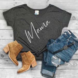 Mama Script - Ladies Slouchy T-shirt
