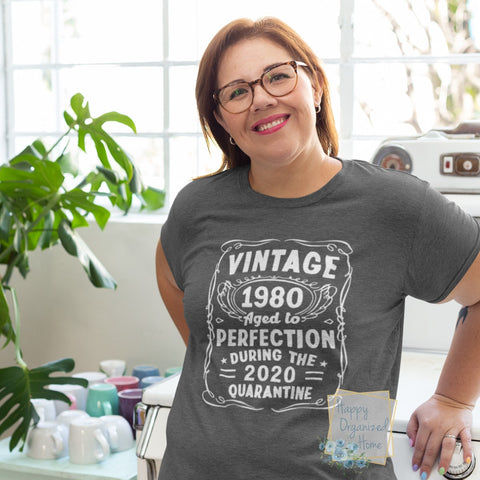 Vintage 1980 aged to perfection - ladies and Men's t-shirt Unisex