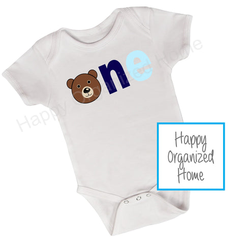 First Birthday Bodysuit- ONE design