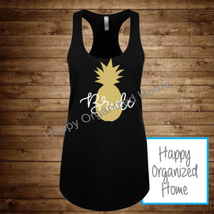 Bride Pineapple Design Tank