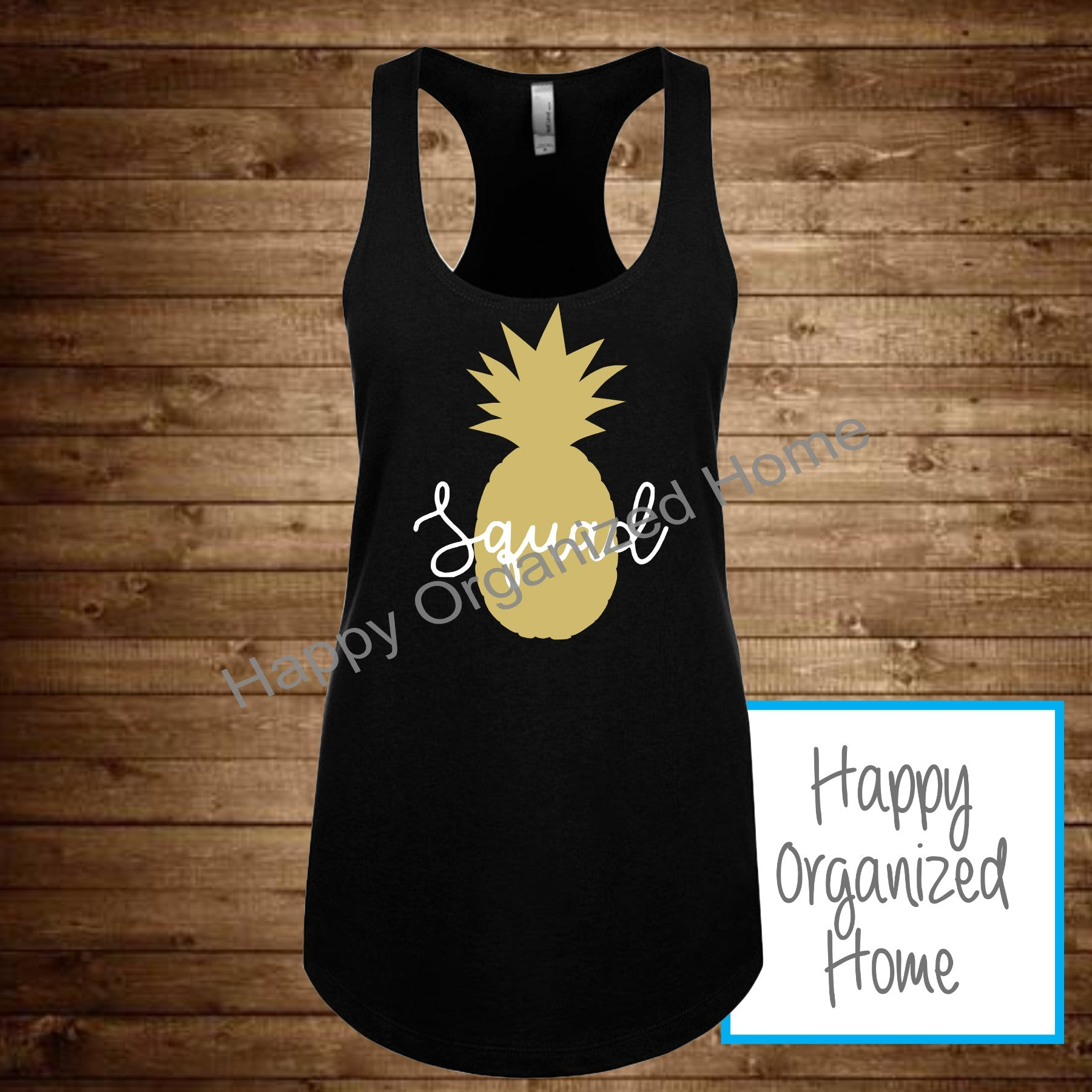 Bride Squad Pineapple Design Tank