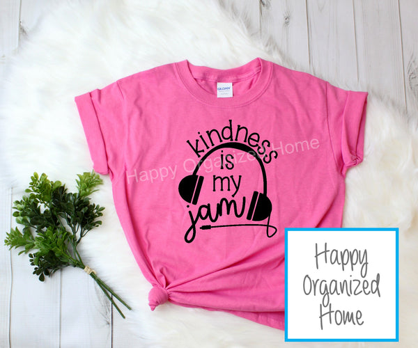 Kindness is my Jam -  Kids Pink Shirt Day T-shirt