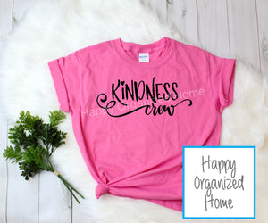 Kindness Crew -  Kids Pink Shirt Day T-shirt