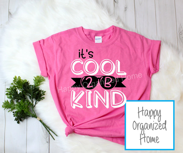 It's Cool to be kind -  Kids Pink Shirt Day T-shirt