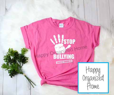 Stop Bullying, Choose Kindness -  Pink Shirt Day T-shirt