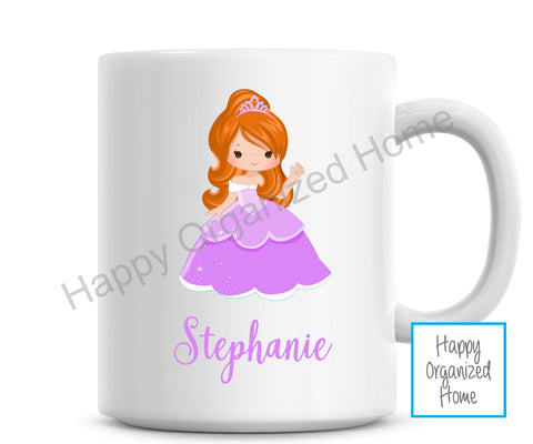 Purple Princess Personalized Kids Unbreakable mug