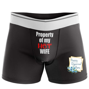 Property of my HOT wife - Men's Naughty Boxer Briefs
