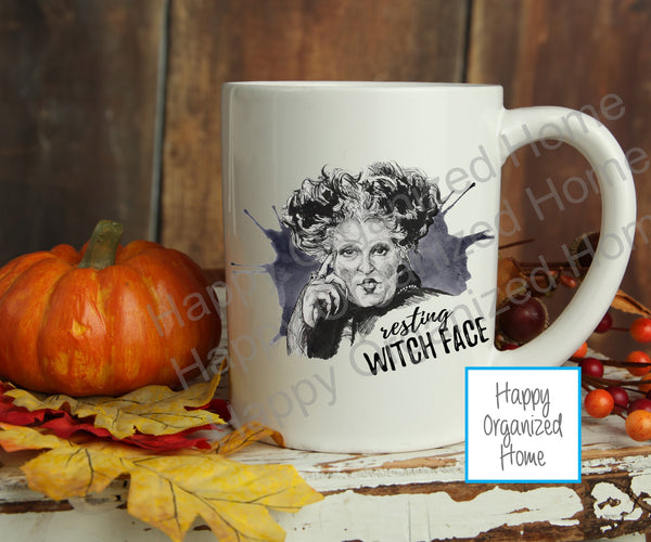 Resting Witch Face - Halloween Mug