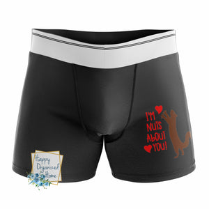 I'm Nuts about you - Men's Naughty Boxer Briefs