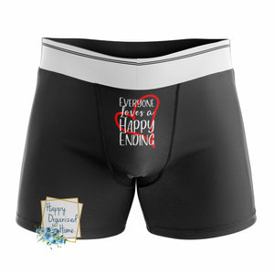 Everyone loves a Happy Ending -  Men's Naughty Boxer Briefs