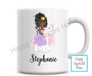 Unicorn Princess Personalized Kids Unbreakable mug