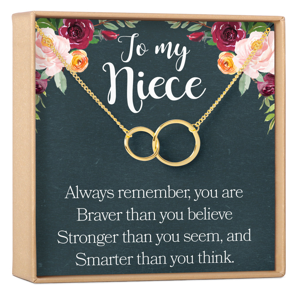 2 Interlocking Circles Niece Confirmation Niece Birthday Dear Ava Niece Gift Necklace: from Aunt