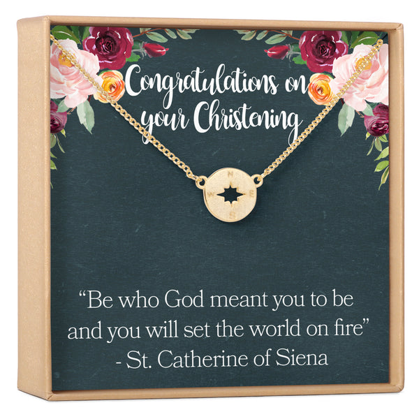 Baptism and Christening Necklace - Dear Ava, Jewelry / Necklaces / Pendants