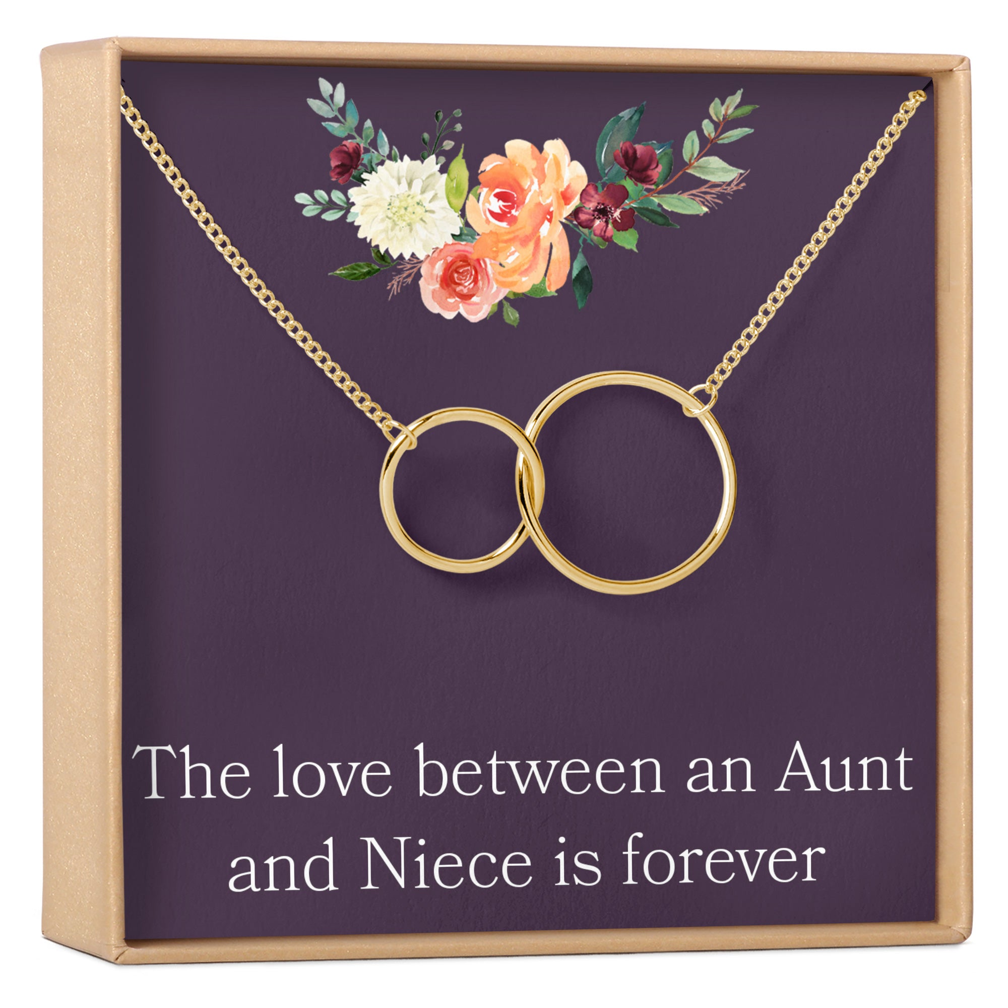 Aunt-Niece Jewelry Aunt-Niece Gift Aunt Necklace birthstone necklace,mother/'s day GIFT Aunt-Niece Quotes Aunt-Niece Necklace