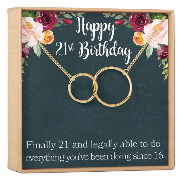 21st Birthday Necklace - Dear Ava, Jewelry / Necklaces / Pendants