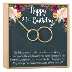 23rd Birthday Gift Necklace Jewlery For Her 2