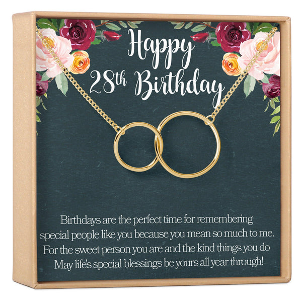 28th Birthday Necklace - Dear Ava, Jewelry / Necklaces / Pendants