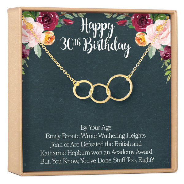 30th Birthday Necklace - Dear Ava, Jewelry / Necklaces / Pendants