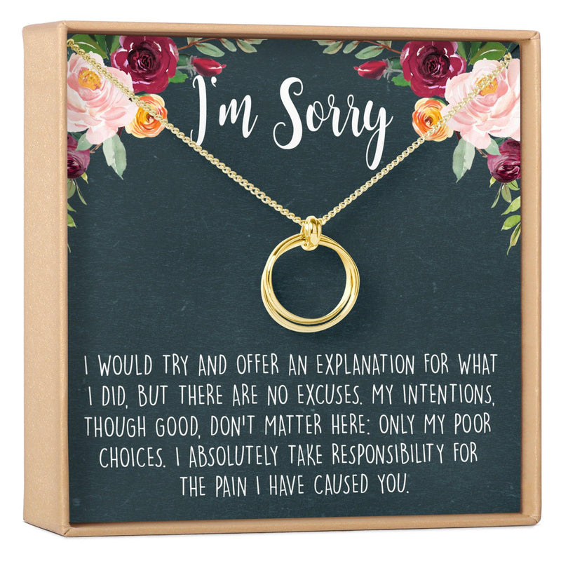 Apology Necklace - Dear Ava, Jewelry / Necklaces / Pendants