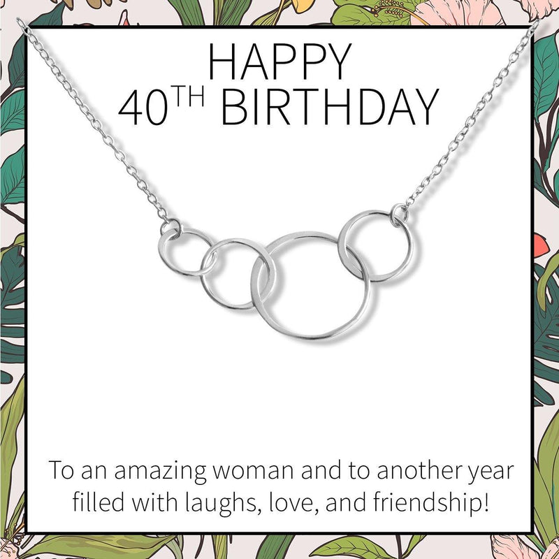 40th Birthday Necklace - Dear Ava, Jewelry / Necklaces / Pendants