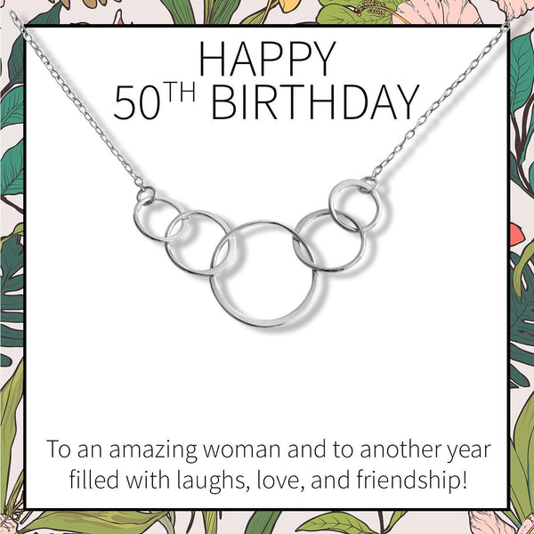 50th Birthday Necklace - Dear Ava, Jewelry / Necklaces / Pendants