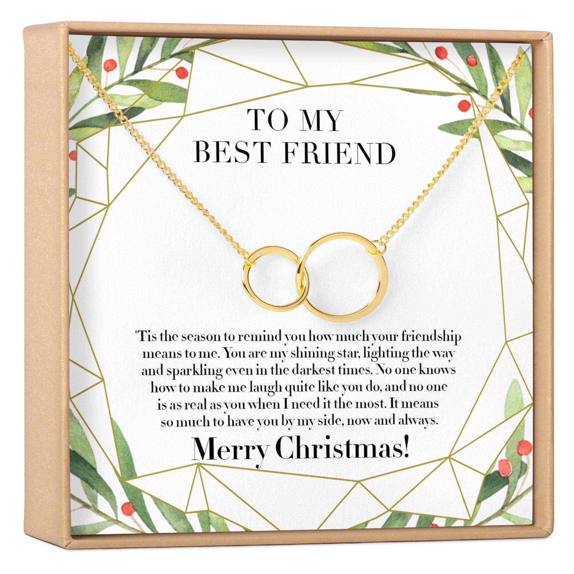 Christmas Gift For Best Friend Present Bff Necklace Best Friend Gift Jewelry Friends Forever Xmas Gift Holiday Gift Gift Idea 2 Asymmetrical Circles Dear Ava