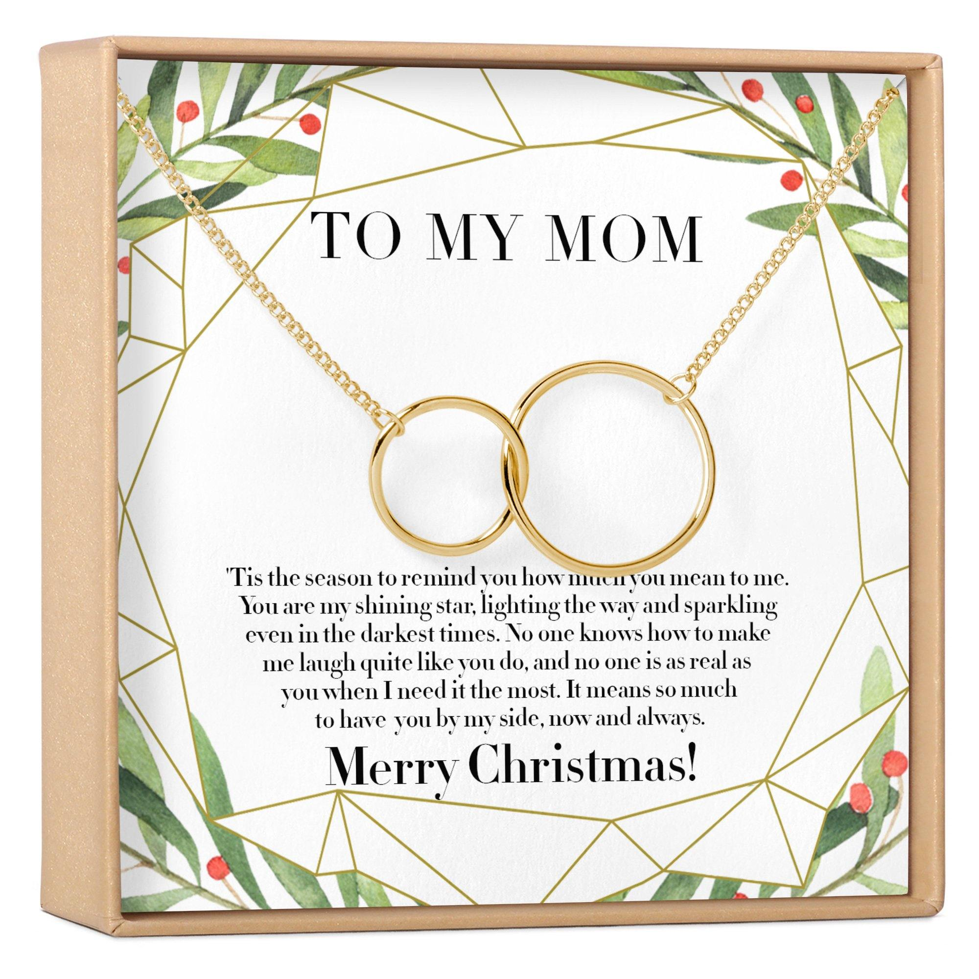 Christmas Gift For Mom Present Necklace Jewelry Xmas Gift Holiday Gift Gift Idea Mother Mom Gift Mother Daughter Gift 2 Interlocking Circles Dear Ava