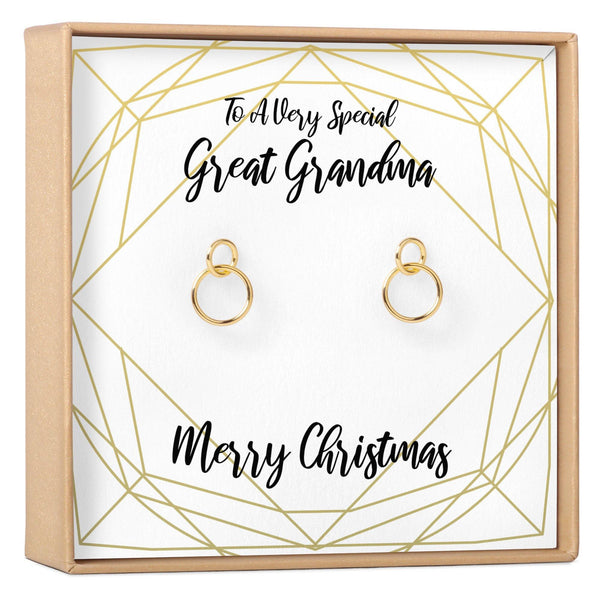 Christmas Gift for Great Grandma Earrings - Dear Ava, Jewelry / Earrings