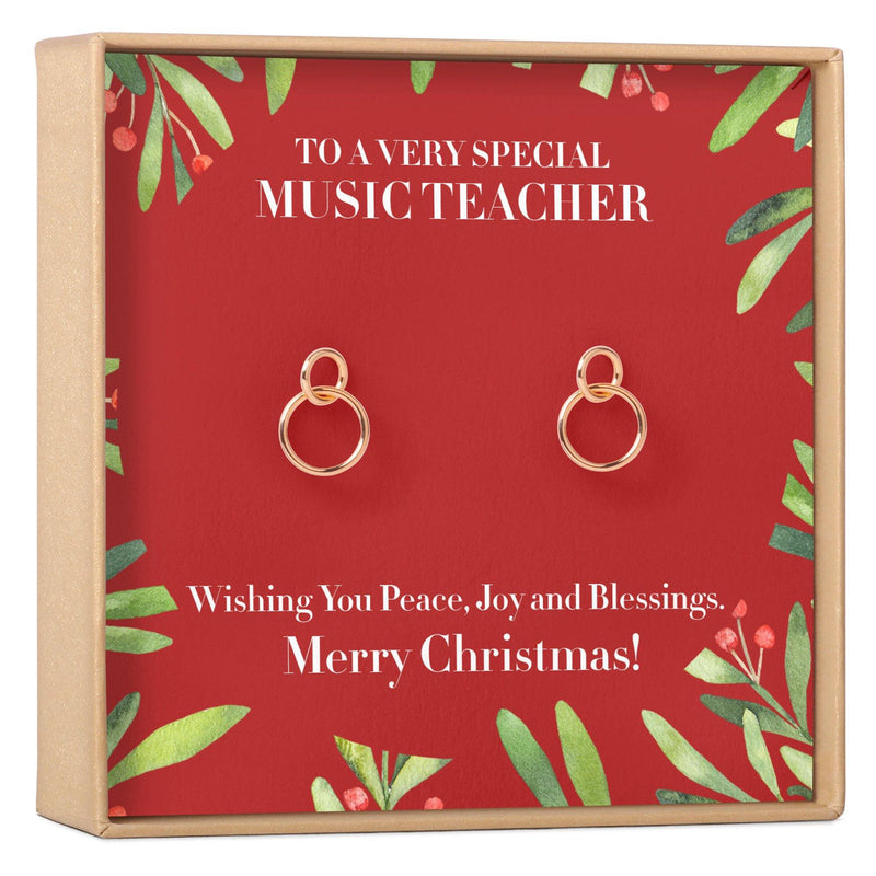Christmas Gift for Music Teacher Earrings - Dear Ava, Jewelry / Earrings